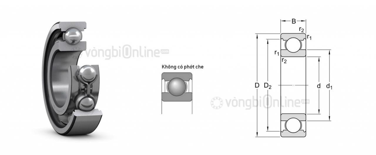 Thông số kỹ thuật và đặc điểm vòng bi 6001